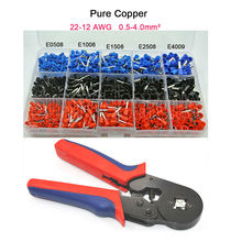 Mixed 1065 Piece wire Ferrules Kit +0.25-6mm2 wire Ferrule Crimper tool(China)