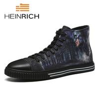 Генрих весна/осень Новый Повседневная Мужская обувь удобные и легкие Мужская обувь уличные Стиль высокие кроссовки Herren Schuhe