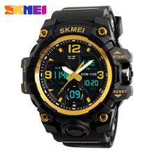 2016 SKMEI 1155 Big Dial Men Digital Watch S SHOCK Military Clock Men Watch Water Resistant Date Calendar LED Sports Watches Men columbia men s big