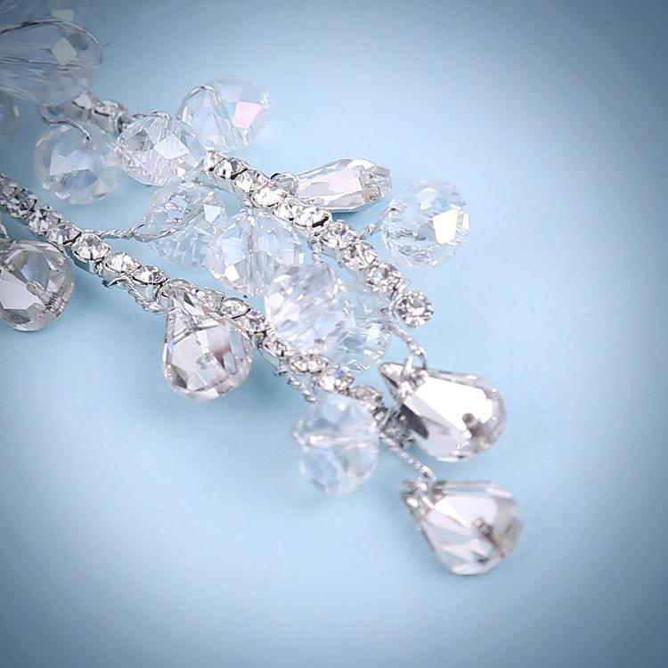 JaneVini Glanzende Strass Haaraccessoires Kristal Haar Tiara's voor - Bruiloft accessoires - Foto 3