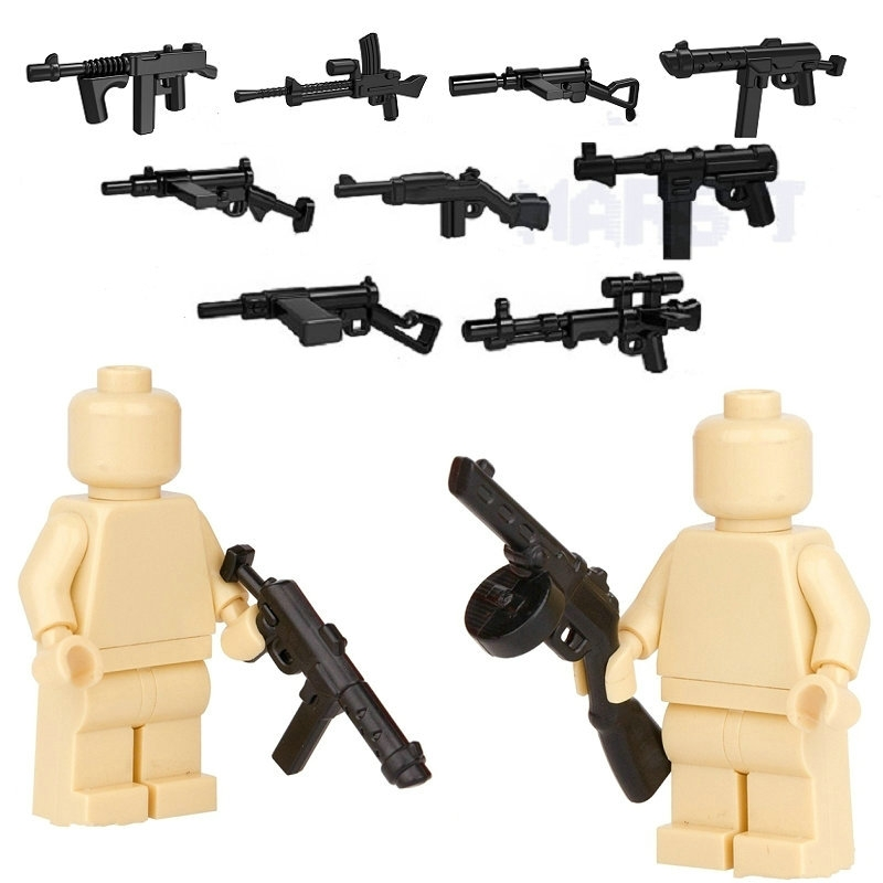 HOT Military Swat Team Guns Weapon Building Blocks City Police Soldiers Figure WW2 LegoINGlys Military Army Builder Series guerre moderne lego