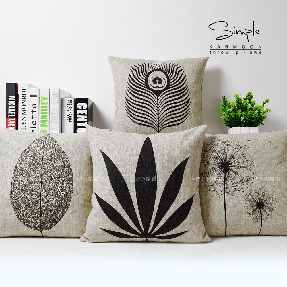 Natural Home Furnishing original luxury package by natural black and white pillow waist by high-grade sofa cushion cover