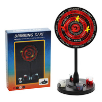 Novelty and Gag Toys Creative Party Games Drinking Game with 4 Darts Shot Glass Drink Toy Board Games For Adults Iron Dart Plate