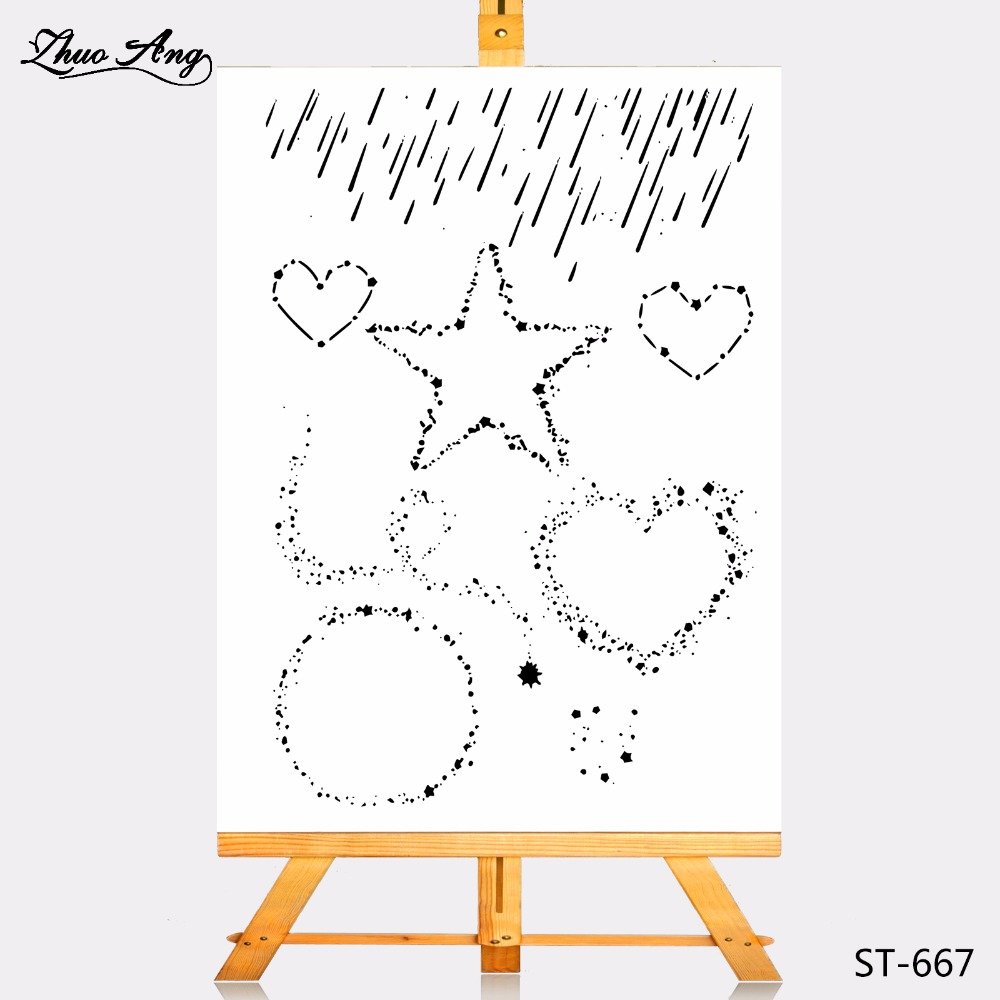 Zhuoang Transparent Clear Stamp Wishing meteor shower Seal for DIY Scrapbooking Photo Album Card Making DIY Decoration Supply