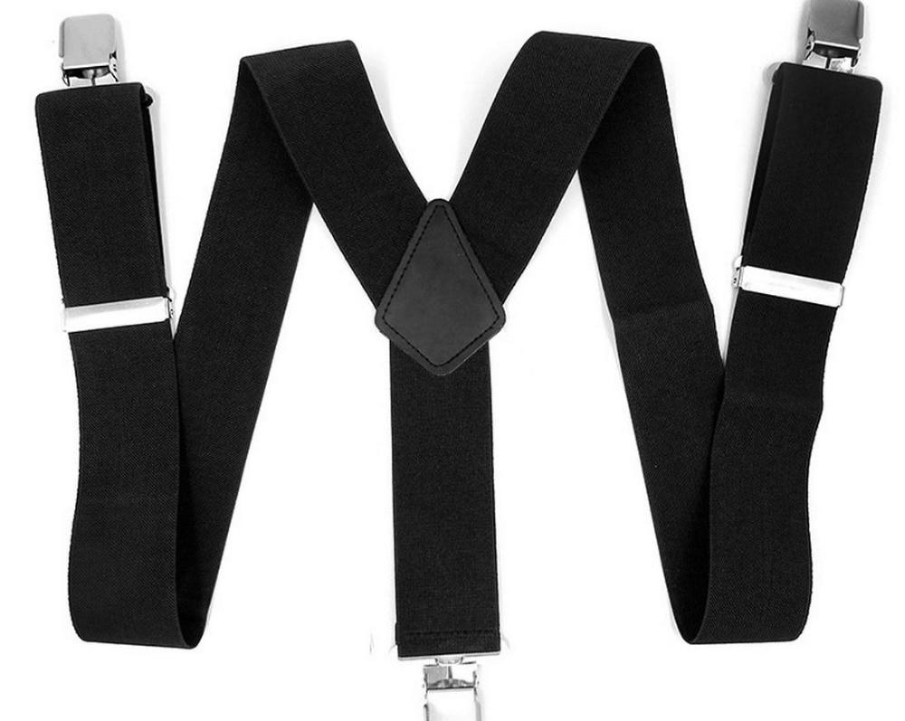 Heavy Duty Mens Ladies BRACES SUSPENDER ELASTIC 50mm WIDE Durable