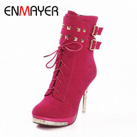 Free Shipping Top Quality High Heel Shoes Fashion Boots For Women Ultra High Waterproof Boots