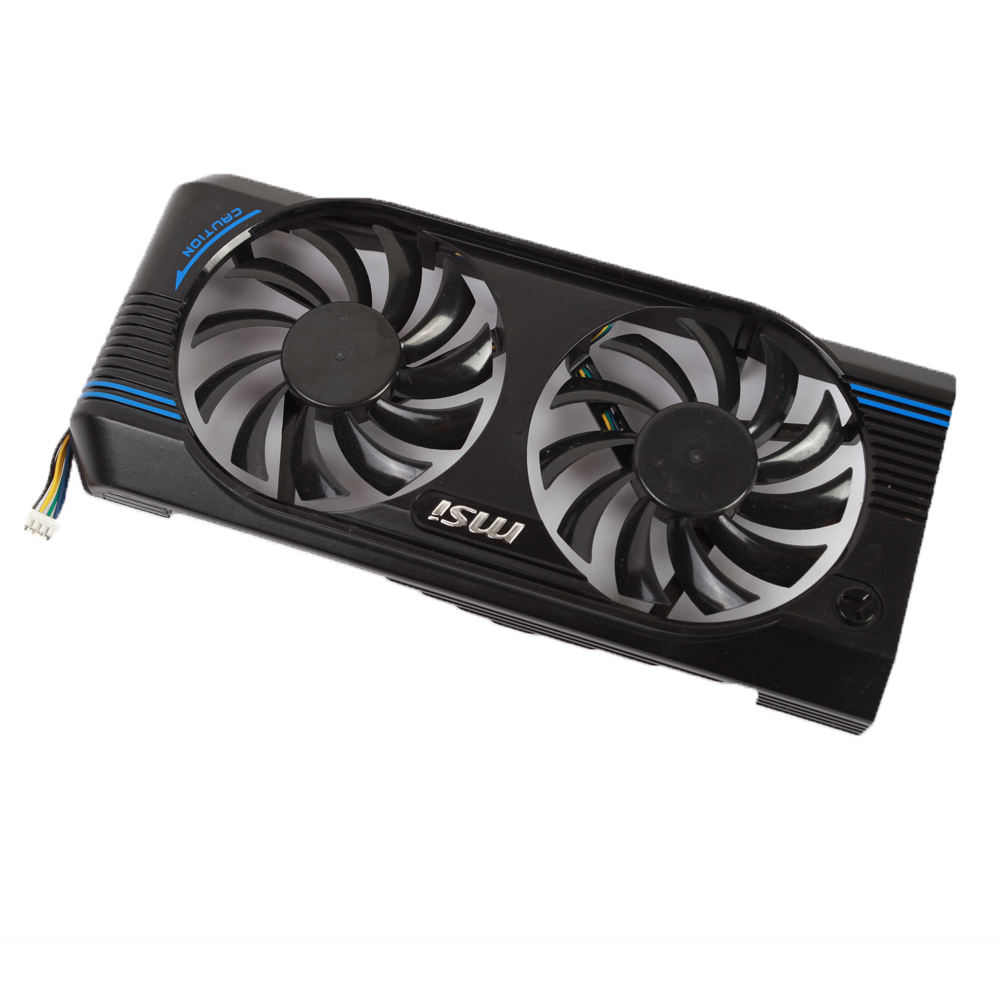 MSI N460GTX N560GTX V5 Graphics Video Card Cooling Fan PLD08010S12HH DC 12V 0.35A 4pin Dual Cooler Fans image