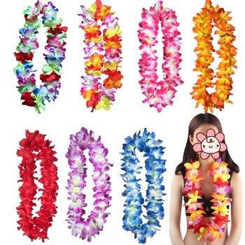 Nuevo collar Hawaiano Lei Hula guirnalda corona diadema pulsera mujeres chicas playa fiesta Tropical Favor