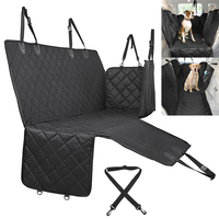 Pet Dog Carrier Waterproof Mesh Dog Car Seat Cover Oxford Car Rear Back Seat Mat Cushion Protector with Pockets for Pet Travel
