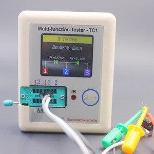 Image 5 - รัสเซียMulti Function TC1เครื่องทดสอบทรานซิสเตอร์TFT Diode Triode Capacitance Meter LCR ESR NPN PNP MOSFET IR Tester