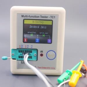 Image 5 - Rosyjski wielofunkcyjny TC1 Tester próbnik elektroniczny trioda dioda TFT miernik pojemności wskaźnika pokrycia wypływów netto ESR NPN PNP MOSFET IR Tester