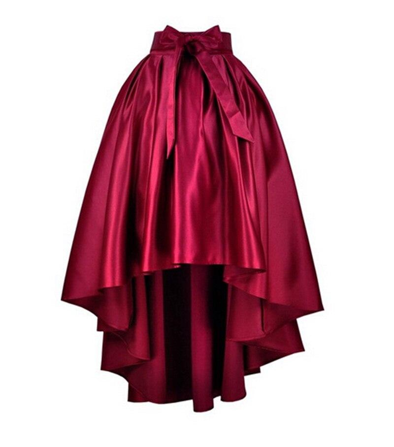 6c292a659 7XL más del tamaño rojo negro Glamour falda de cola de milano de la alta  cintura alta baja faldas Jupe 2015 del arco del Bowknot falda Saia Feminina  Saias ...