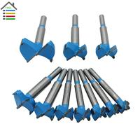 Free Shipping New 10pc 15 50mm Forstner Auger Drill Bits Set Woodworking Hole Saw Wooden Wood