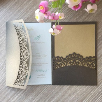 100pcs/lot New Arrival Laser Cut Wedding Cards Invitation 2019 Birthday Party Invitations RSVP Card Greeting Gift Card