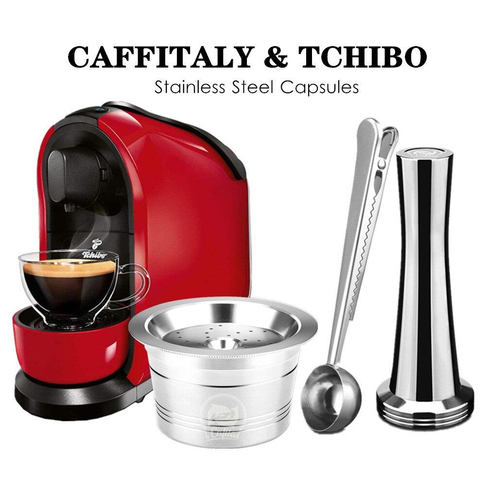 Para ALDI Expressi Recarregáveis K-taxa de Café Caffitaly Tchibo Cafissimo Cápsula Pod Filtros Cafeteira de Aço Inoxidável Colher de Adulteração