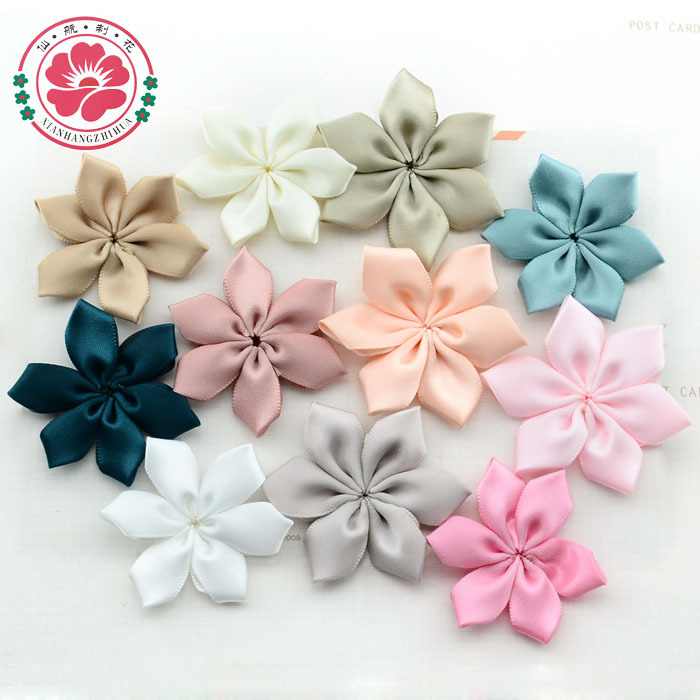 Aliexpress 62y 100pcs Lot Free Shipping Factory Handmade Eco Friendly Satin Ribbon Cloth Flowers For Dress Diy Hat Hair Accossory From Reliable