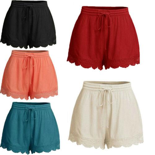 NEW Summer Shorts Women Casual Short Trouser Ladies Sports Gym Clothes Loose Cotton Linen Trouser Plus Size L-5XL