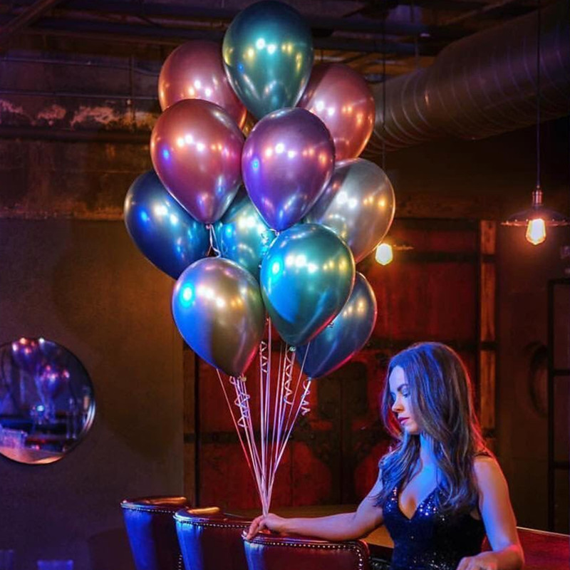unicorn party 10PCS Rose gold latex balloons sliver chrome balloons birthday party decorations kids Metallic Balloons anon маска сноубордическая anon somerset pellow gold chrome