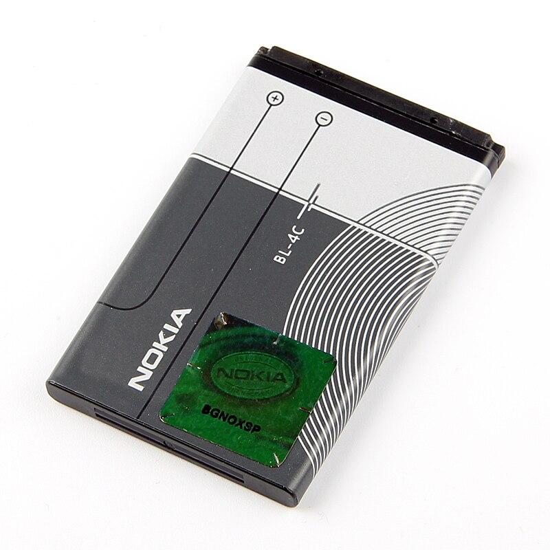 D'origine Nokia BL-4C téléphone batterie pour Nokia 6100 6300 6125 6136 S 6170 6260 6301 7705 7200 7270 8208 BL4C 860 mAh