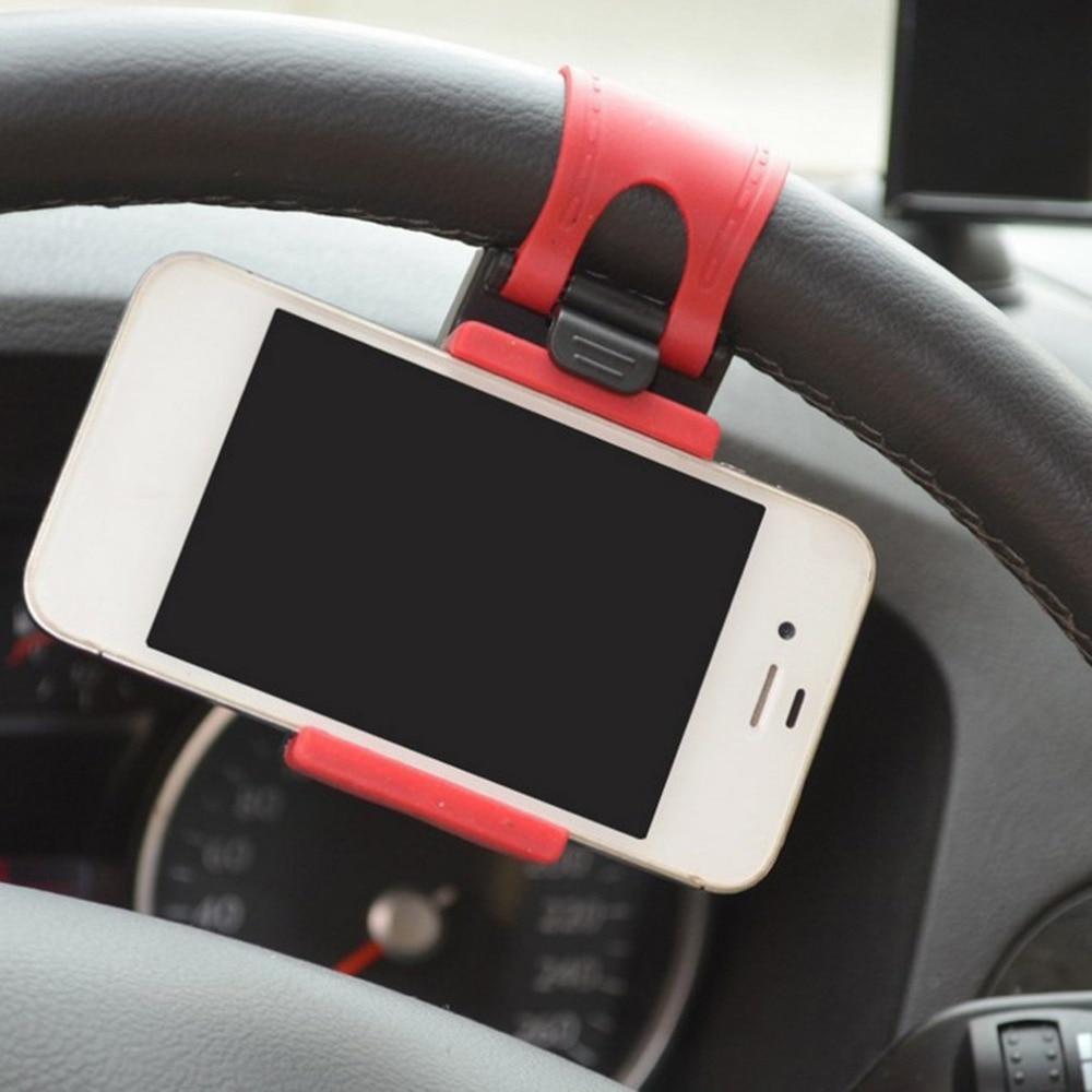 Universal Car Steering Wheel Clip Mount Holder for iPhone 8 7 7Plus 6 6s Samsung Xiaomi Hu