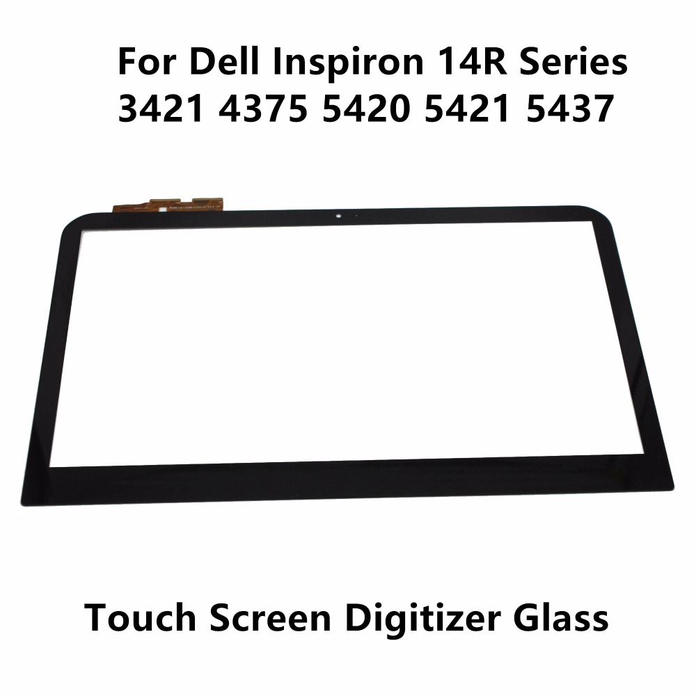 Genuine 14'' For Dell Inspiron 14 14R Series 14 3421 3437 14R 5421 5437 4375 5420 Touch Screen with Digitizer Glass Lens Panel tc4h 14r 100
