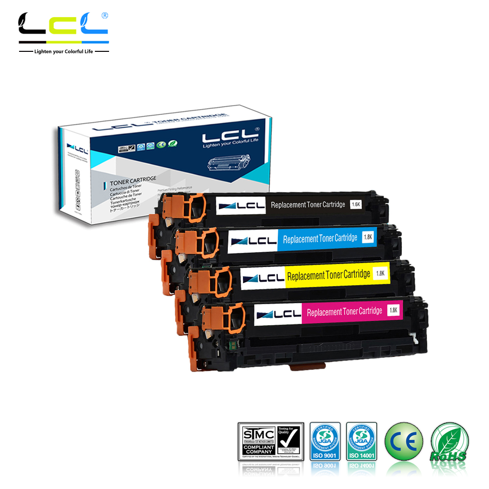 LCL 131A CF210A CF211A CF212A CF213A (4-Pack KCMY )Toner Cartridge Compatible for HP LaserJet Pro 200 color M251nw M276n nw new cyan toner compatible for hp laserjet pro cf411x m452 dn dw nw m470 tri color 5000 pages free shipping hot sale