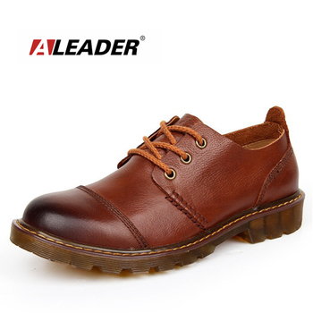 Aleader Men Leather Shoes Casual New 2016 Genuine Leather Shoes Men Oxford Fashion Lace Up Dress Shoes Outdoor Work Shoe Sapatos online shopping in pakistan with free home delivery