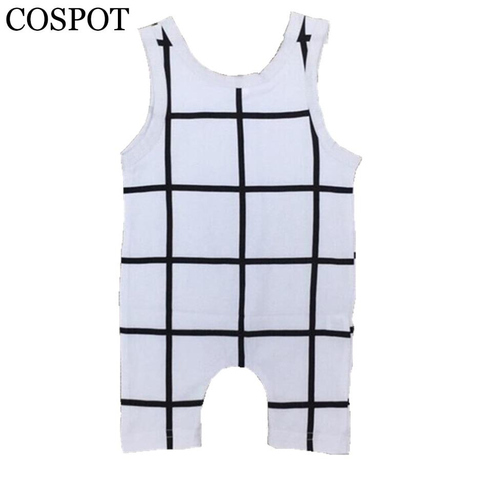 COSPOT Baby Sleeveless Cotton Romper Newborn Pyjamas Jumper Infant Boys Jumpsuit Kids Summer Romper Boy Pajamas 2018 New 45