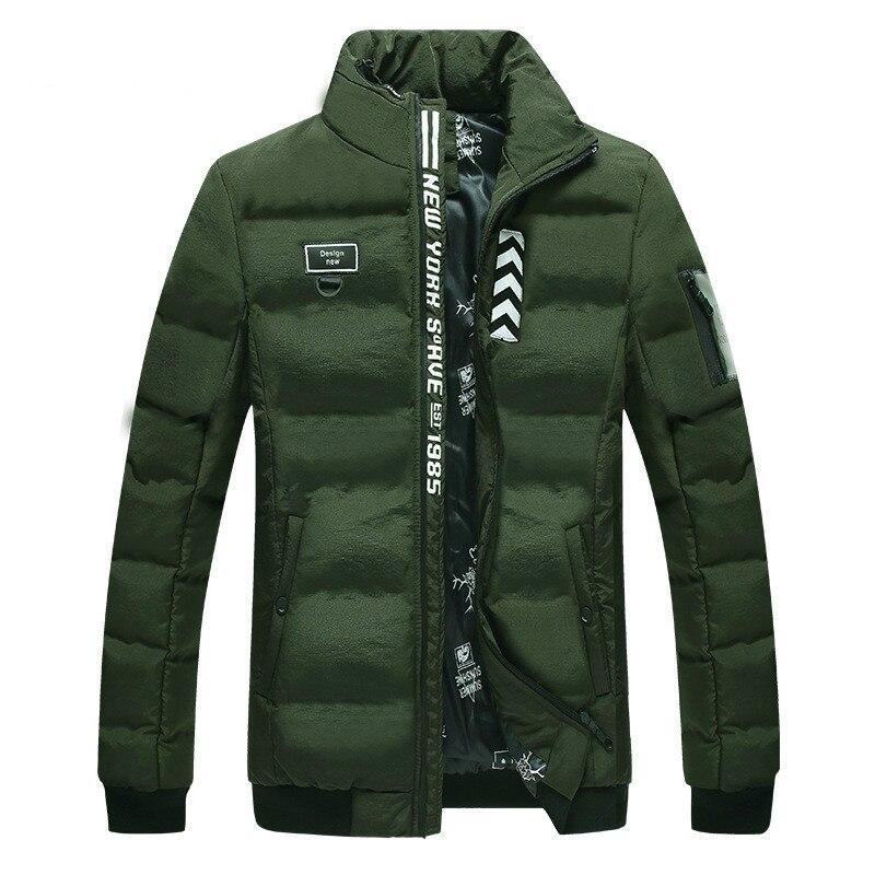 2018 automne hiver hommes manteaux décontractés épaissir Parka chaude hommes Outwear col montant Zip Up bulle vestes pour hommes veste bouffante