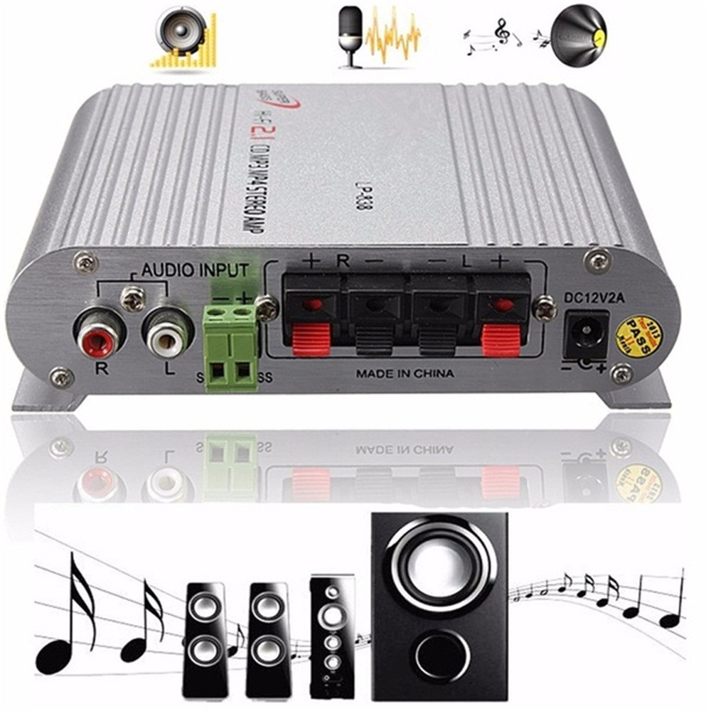 Hifi Cd Mp3 Radio Car Home Audio Stereo Bass Speaker Amplifier Booster 12V 200W May21
