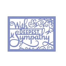 With Deepest Sympathy Frame Metal Cutting Dies Stencils For DIY Scrapbooking Album Embossing Paper Card Craft Words Die 2018 New