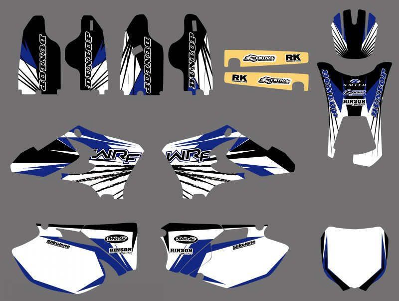 NEW TEAM GRAPHICS BACKGROUNDS DECALS FOR Yamaha WR250F WR450F WRF 250 450 2005 2006 WR 25F 450F все цены