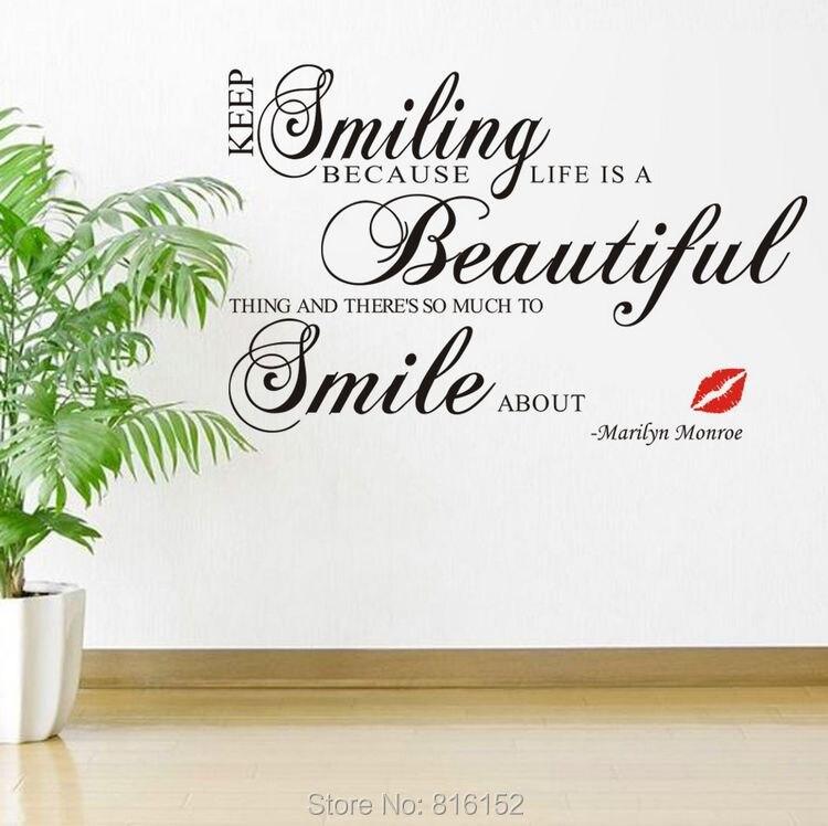 lachen sprüche englisch Monroe Lippen Englisch Lächeln Live Englisch Sprüche Wasserdichte  lachen sprüche englisch