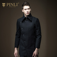 PINLI 2016 New Winter Coat Jacket Mens Slim Wool Male B164202213