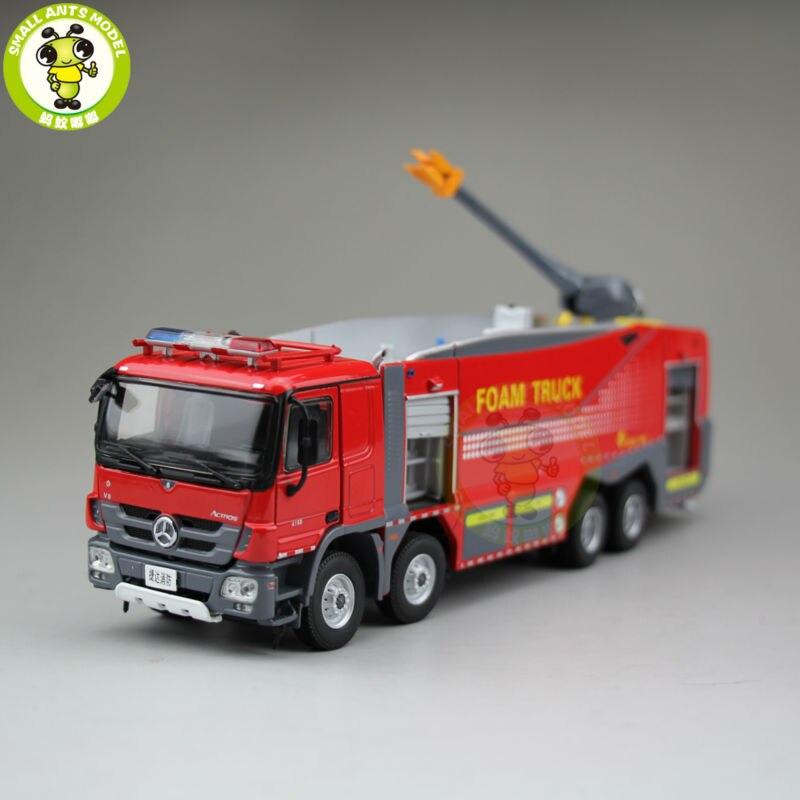 1/50 Benz Actors China JieDa Foam Fire Truck Diecast Model Car