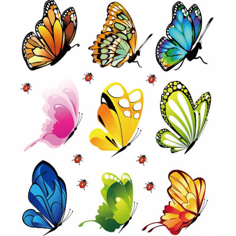 Creative Landscaping Decoration 16 * 21cm Wall-papers Poster Heart Shaped Stickers Butterfly Stickers PVC Wallpaper living room