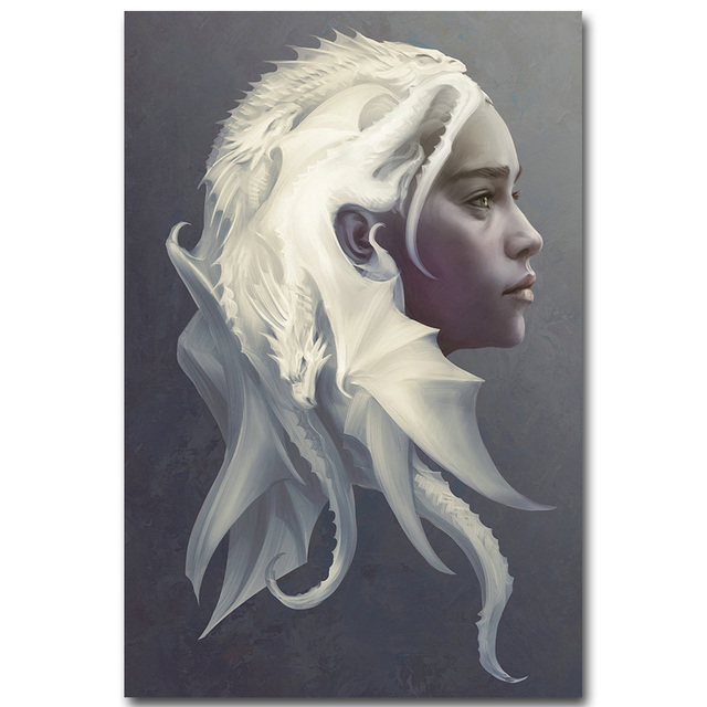 Game Of Thrones Art Silk Fabric Poster Print 13×20 24×36 TV Series Jon Snow Daenerys Stormborn Picture for Wall Decor 01