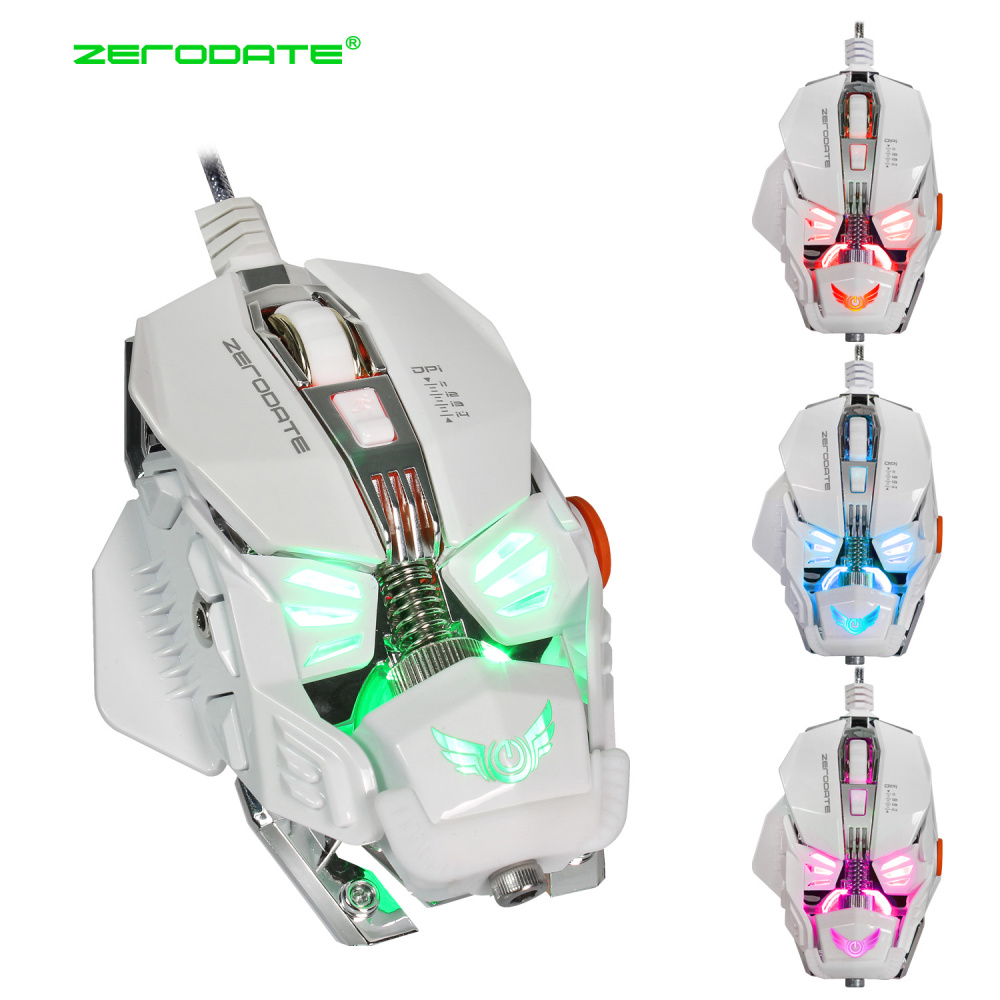 Image 2 - ZERODATE  Wired Gaming Mouse Adjustable With LED Light 4000DPI Mice Macro Programming Gamer Mouse For PC Laptop Game-in Mice from Computer & Office