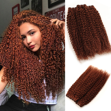 Brown Bundles With Closure Kinky Curly Human Hair Bundles With Closure Colored Peruvian Hair Bundles Red Hair Non Remy