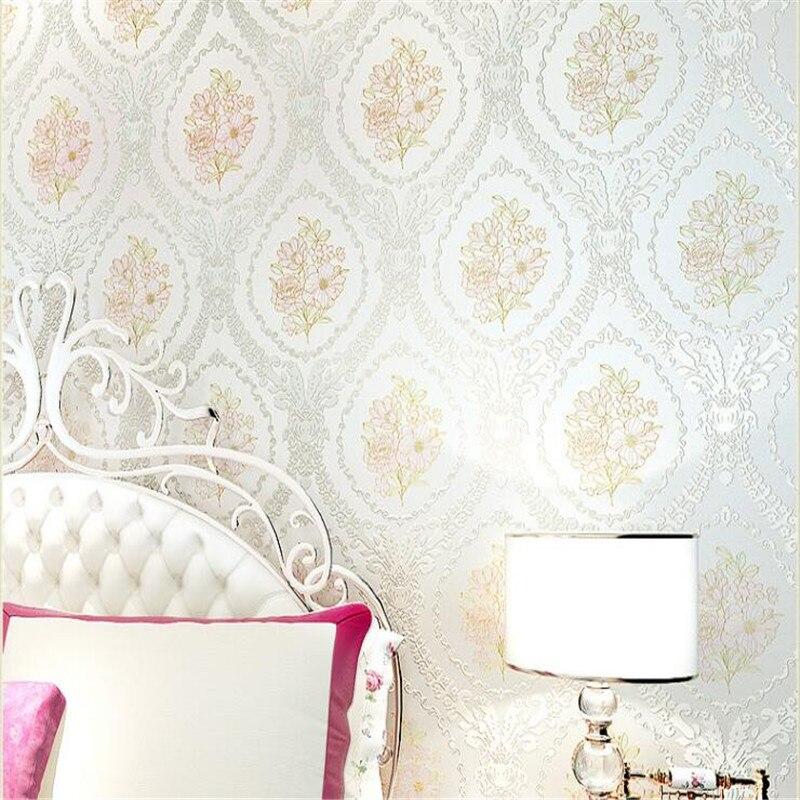 Beibehang Senior européen rural non tissé épais 3 d mode atmosphère douce chambre salon papier peint papel de parede - 3