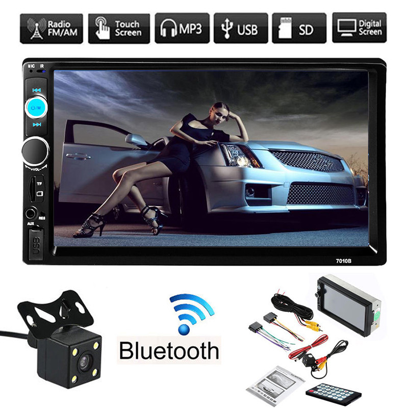New 7 V3 0 FM HD 2 DIN FM MP5 MP3 USB AUX Durable Touch Car