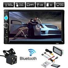 Camera Bluetooth Car-Screen Stereo-Radio Touch Portable 2-Din V3.0 FM Convenient USB/AUX