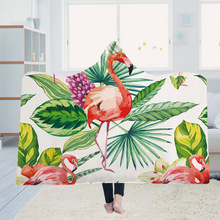Yoga mat Hooded Blanket Cloak Magic Hat Thick Double-layer Plush 3D Digital Printing Flower Leaves Series