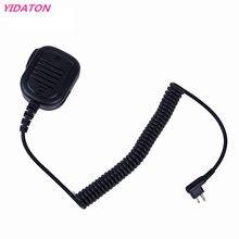 YIDATON Dois Sentidos Acessórios de Rádio NEW Handheld Speaker Mic 2 PINOS PTT Microfone para Rádios GP88/88 S/GP68/3688 Walkie Talkie