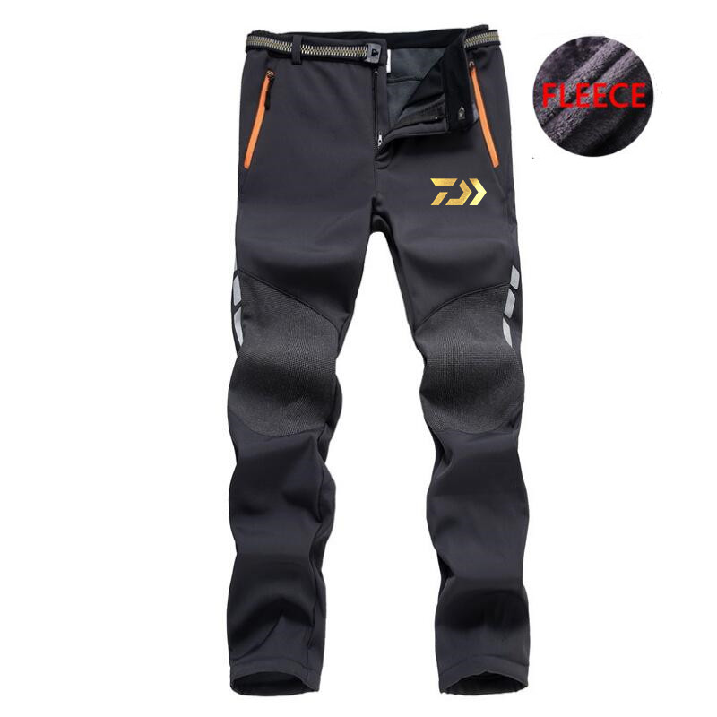 2018 New Daiwa Outdoor Sports Pants Professional Men Fishing Plus Velvet Pants Anti-uv Quick-drying Pants Choice Materials
