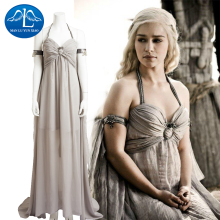 MANLUYUNXIAO New Cosplay Feminino Game Of Thrones Costume Daenerys Targaryen Costume Halloween Costumes For Women Custom Made