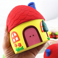 Squishy Colorfu Squishy Colorfu Trage Rebound Cake Super Leuke Huis Model Charms Geschenken Speelgoed