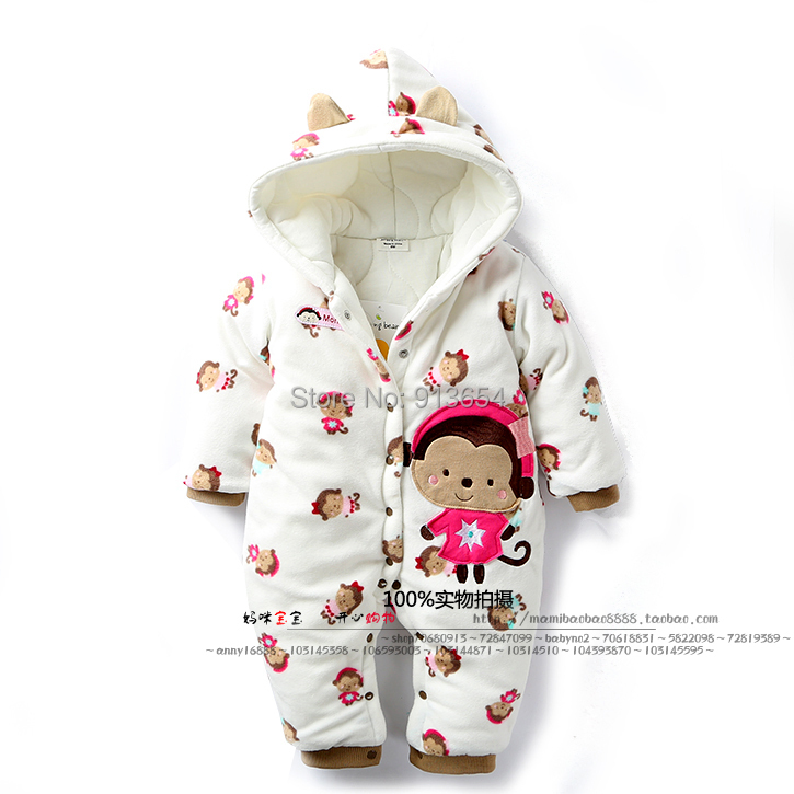 new 2016 autumn winter romper infant clothing baby girl cotton Rompers kids Cartoon monkey jumpsuit newborn overall baby costume new 2016 autumn winter kids jumpsuits newborn baby clothes infant hooded cotton rompers baby boys striped monkey coveralls