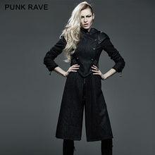 Punk Rave Women Hooded Coat Gothic Steampunk Military Motocycle Jacket J1