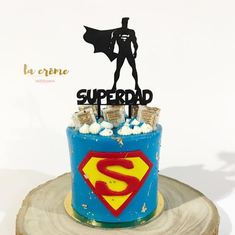 YARD SUPER DAD SUPERMAN SUPERHERO FATHERS DAY  GROSGRAIN RIBBON